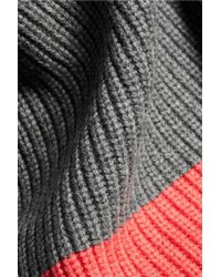 Duffy - Gray Ribbed Wool And Cashmere-blend Sweater - Lyst