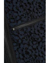 Marissa Webb - Crepe-paneled Corded Lace Jacket Midnight Blue - Lyst