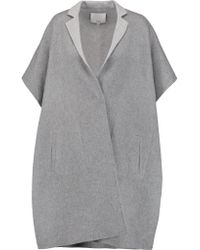 Tibi - Gray Wool And Angora-blend Coat - Lyst