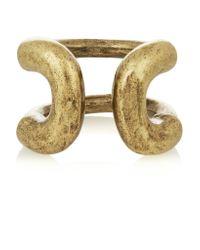 Giles & Brother - Metallic Cortina Burnished Gold-tone Ring - Lyst