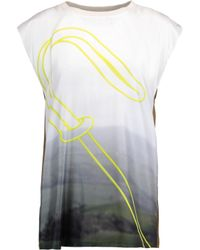 Vionnet | Multicolor Printed Silk-twill Top | Lyst
