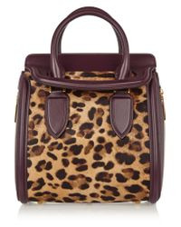 Alexander McQueen | Multicolor The Heroine Small Leather And Leopard-print Calf Hair Tote | Lyst