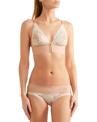 Stella McCartney | Natural Bella Admiring Lace-paneled Stretch-jersey Briefs | Lyst