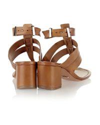 Schutz - Natural Leather Sandals - Lyst