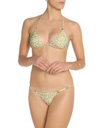 Melissa Odabash - Yellow Brazil Printed Halterneck Bikini - Lyst