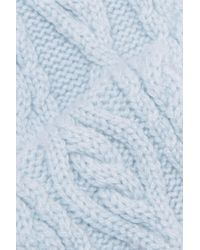 Autumn Cashmere - Cable-knit Cashmere Headband Sky Blue - Lyst