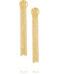 Arme De L'Amour - Metallic Gold-plated Earrings - Lyst