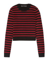 Marc By Marc Jacobs | Red Cropped Stretch Wool-blend Sweater | Lyst