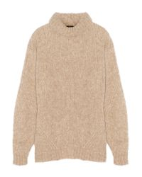 Tibi | Blue Bubble Knitted Turtleneck Sweater | Lyst