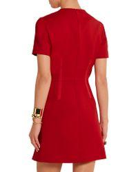 Carven - Black Wool-twill Mini Dress - Lyst