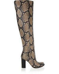 Sam Edelman   Multicolor Rylan Snake-effect Leather Over-the-knee Boots   Lyst