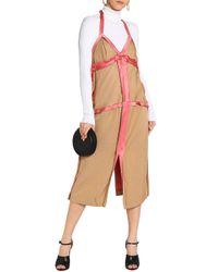 Marni - Multicolor Satin-trimmed Cady Halterneck Midi Dress - Lyst