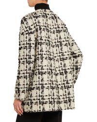Giambattista Valli - White Wool-blend Bouclé-tweed Coat - Lyst