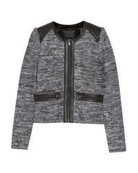 Line - - Hyde Leather-trimmed Woven Jacket - Black - Lyst