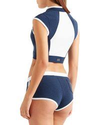 Duskii - Blue Monte Carlo Paneled Neoprene Bikini Top - Lyst