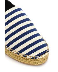 Marc Jacobs - Black Two-tone Striped Grosgain Espadrilles - Lyst