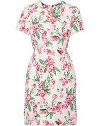 Jonathan Saunders | White Jodie Floral-print Twill Dress | Lyst