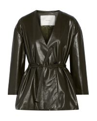 Adam Lippes   Green Leather Jacket   Lyst