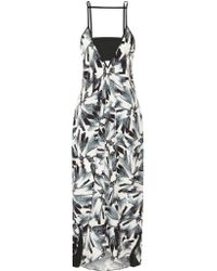 Flagpole Swim | Black Erica Printed Crepe De Chine Dress | Lyst