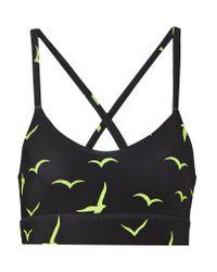 Mara Hoffman | Black Printed Stretch-jersey Sports Bra | Lyst