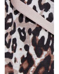 Skin - Brown Leopard-print Pima Cotton Bra Top - Lyst