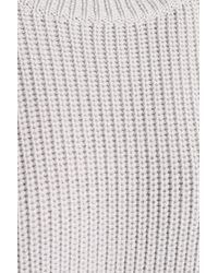 Amanda Wakeley - Merino Wool Sweater Light Gray - Lyst