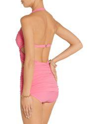 Norma Kamali - Blue Xo Bill Mio Ruched Cutout Swimsuit - Lyst