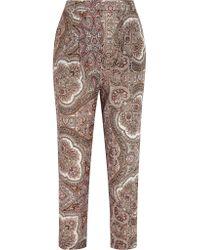 Zimmermann   Multicolor Epoque Paisley-print Cotton-voile Tapered Pants   Lyst