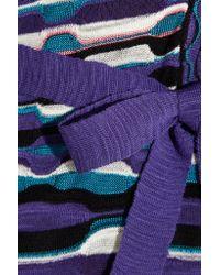 M Missoni - Blue Crochet-knit Mini Dress - Lyst
