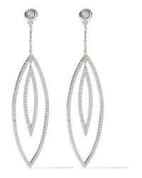 Noir Jewelry | Metallic - Solaris Silver-tone Crystal Earrings | Lyst