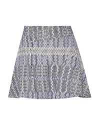 10 Crosby Derek Lam | Multicolor Cotton-blend Tweed Mini Skirt | Lyst