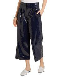 Tibi - Blue Casual Pants - Lyst