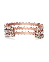 Erickson Beamon - Multicolor War Of Roses Rose Gold-plated Swarovski Crystal Cuff - Lyst