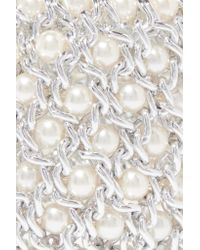 Kenneth Jay Lane - Metallic Silver-tone And Faux Pearl Bracelet - Lyst
