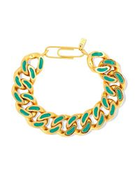 Aurelie Bidermann | Metallic Aurélie Bidermann - Gold-plated Lacquer Bracelet | Lyst