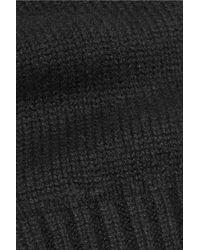 N.Peal Cashmere - Black Fingerless Cashmere Gloves - Lyst
