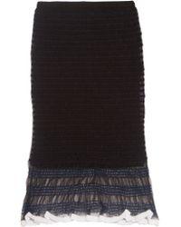 Alexander Wang - Black Stretch-mesh Skirt - Lyst