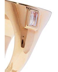 Elizabeth and James - Metallic Gold-tone Crystal Ring - Lyst