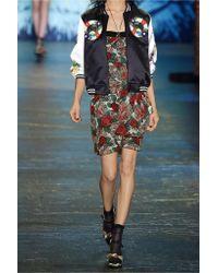 Anna Sui | Multicolor Printed Silk-chiffon Mini Dress | Lyst