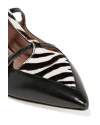 Tabitha Simmons - Black Leather Flats - Lyst