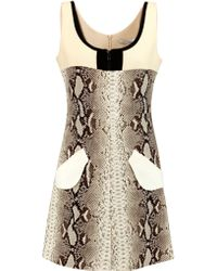 Carven | Multicolor Snake-print Crepe Mini Dress | Lyst
