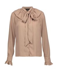 W118 by Walter Baker Natural Heather Pussy-bow Crepe De Chine Blouse