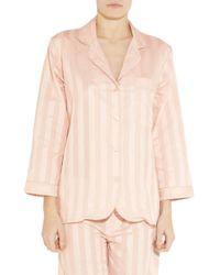 Bodas   Pink Striped Cotton Pajama Top   Lyst