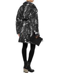 Norma Kamali - Black Reversible Printed Stretch-jersey Coat - Lyst