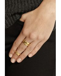 Arme De L'Amour - Metallic Set Of Three Gold-plated Rings - Lyst