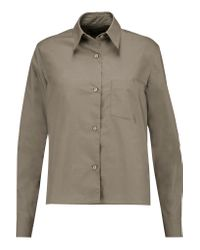 Isabel Marant - Green Way Cotton-poplin Shirt - Lyst