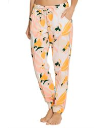 Heidi Klein - Yellow Honolulu Printed Crepe Tapered Pants - Lyst