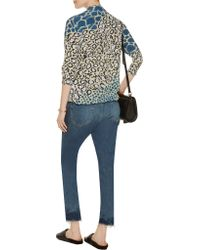 Equipment - Multicolor Printed Silk Shirt - Lyst