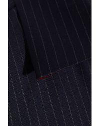 Sonia Rykiel - Blue Pinstriped Wool Jumpsuit - Lyst