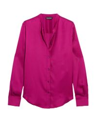 Tom Ford - Pink Silk-satin Blouse - Lyst